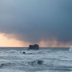 Unwetterfront vor Dyrhólaey