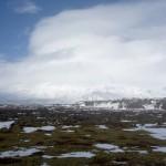 Snæfellsjökull (vermutlich, irgendwo in den Wolken)