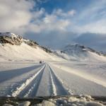 Schön tiefer Schnee